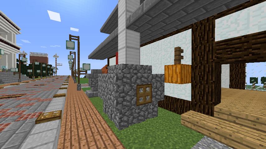 Minecrafterししゃもがマインクラフトでぷっこ村に石窯ピザ屋を作る12