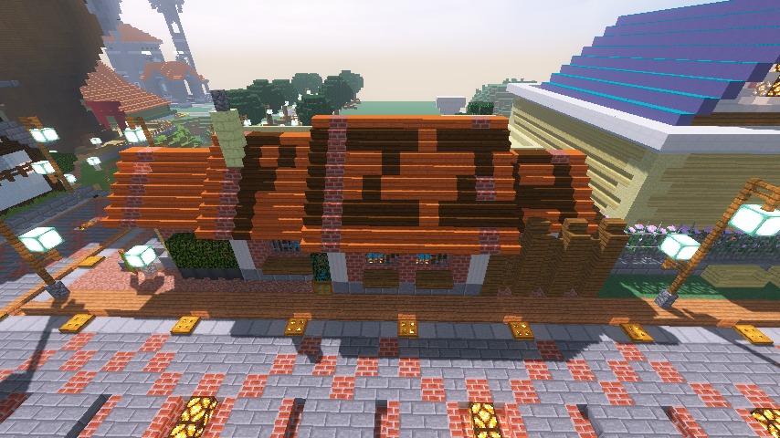 Minecrafterししゃもがマインクラフトでぷっこ村に石窯ピザ屋を作る16