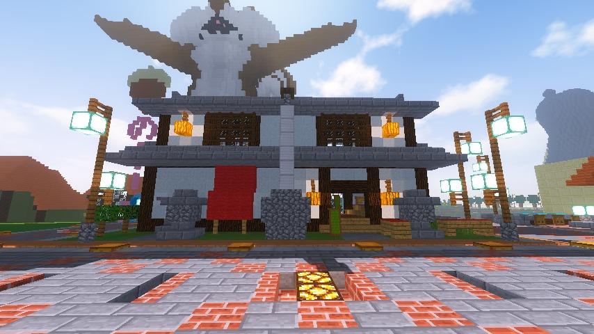 Minecrafterししゃもがマインクラフトでぷっこ村に石窯ピザ屋を作る17