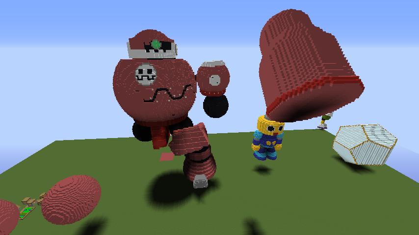 Minecrafterししゃもがマインクラフトでロックマンダッシュに登場するトロンの愛機、グスタフをつくる1