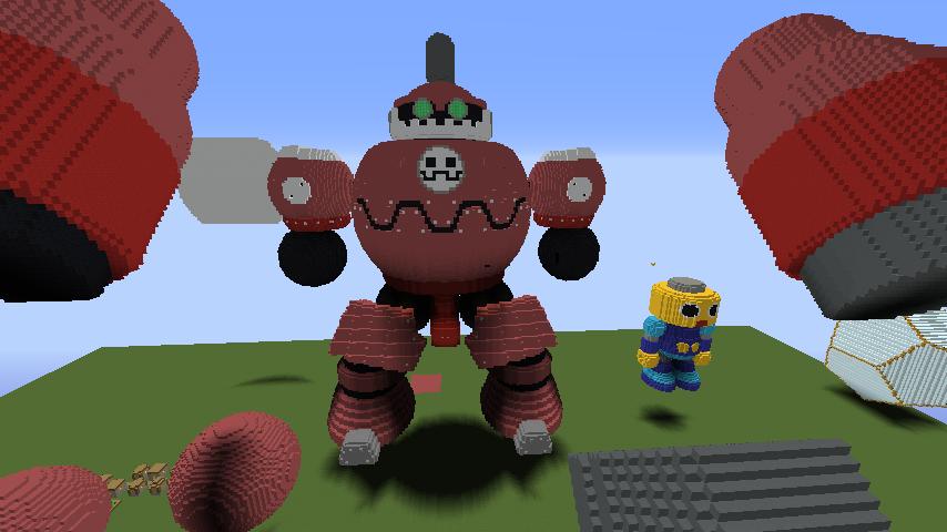 Minecrafterししゃもがマインクラフトでロックマンダッシュに登場するトロンの愛機、グスタフをつくる2