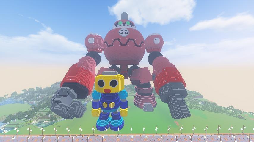 Minecrafterししゃもがマインクラフトでロックマンダッシュに登場するトロンの愛機、グスタフをつくる11