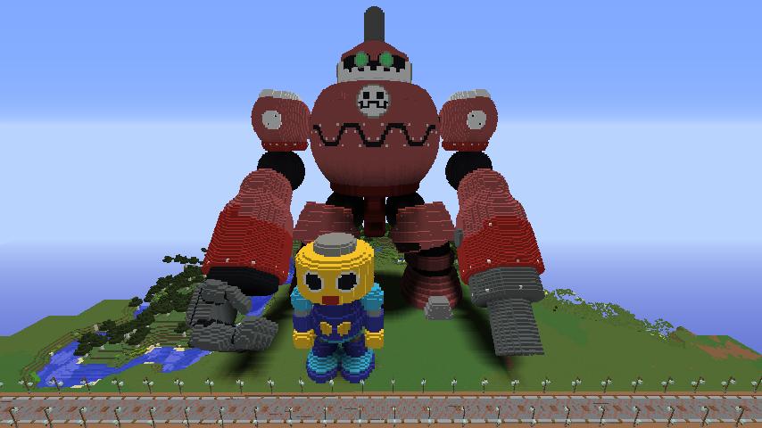 Minecrafterししゃもがマインクラフトでロックマンダッシュに登場するトロンの愛機、グスタフをつくる3