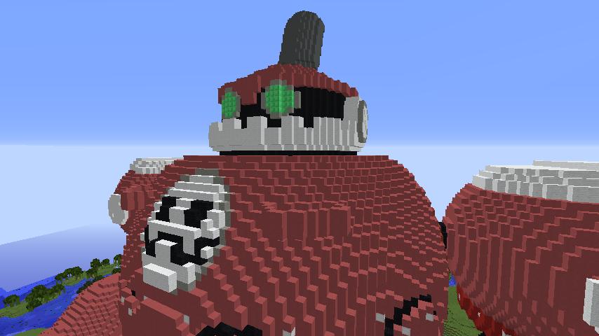 Minecrafterししゃもがマインクラフトでロックマンダッシュに登場するトロンの愛機、グスタフをつくる5