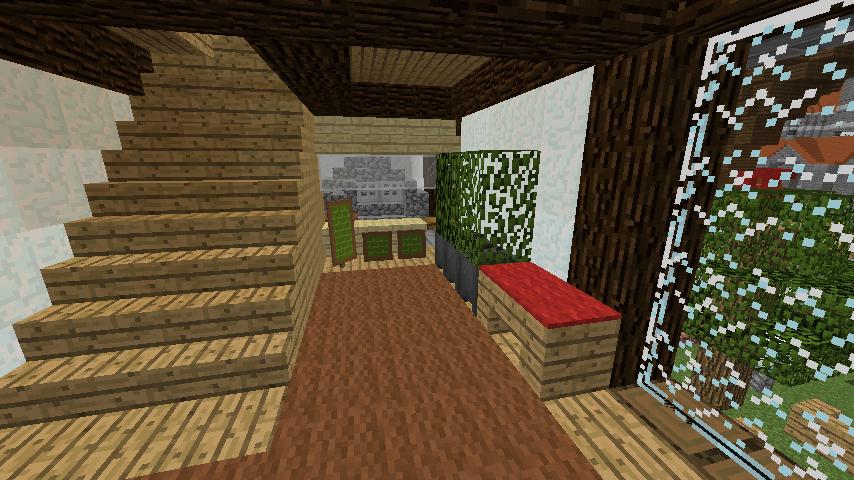 Minecrafterししゃもがマインクラフトでぷっこ村に石窯ピザ屋を作る13