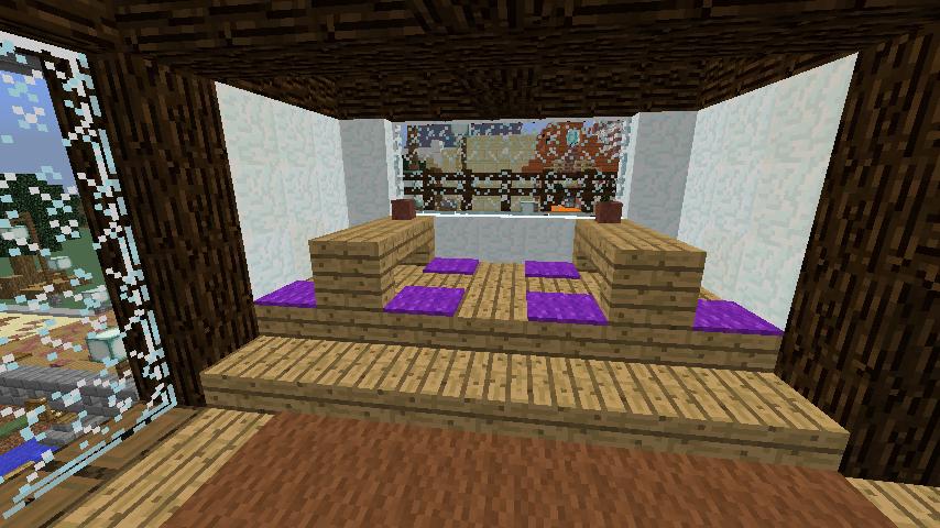 Minecrafterししゃもがマインクラフトでぷっこ村に石窯ピザ屋を作る14