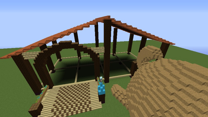 Minecrafterししゃもがマインクラフトで究極の犬小屋を完成させる3