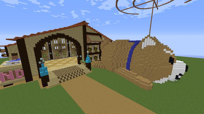 Minecrafterししゃもがマインクラフトで究極の犬小屋を完成させる4