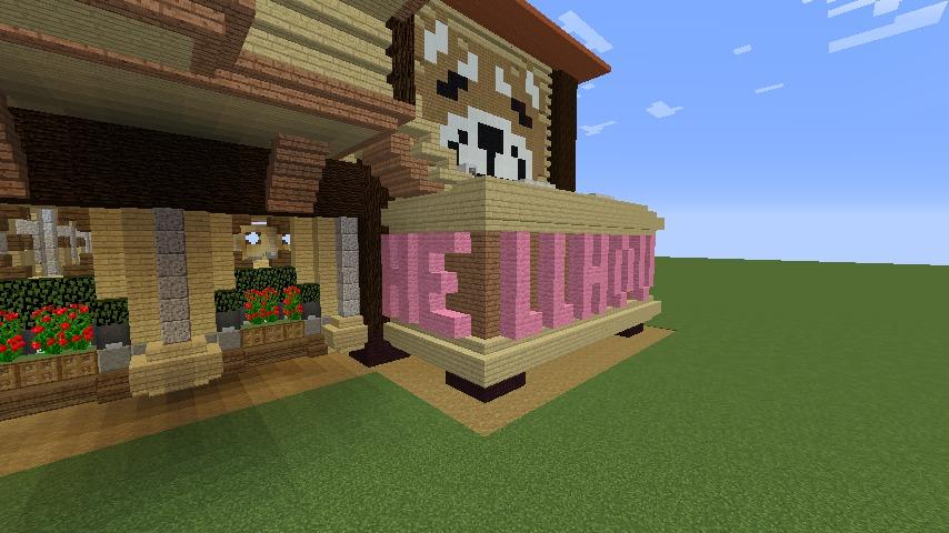 Minecrafterししゃもがマインクラフトで究極の犬小屋を完成させる6