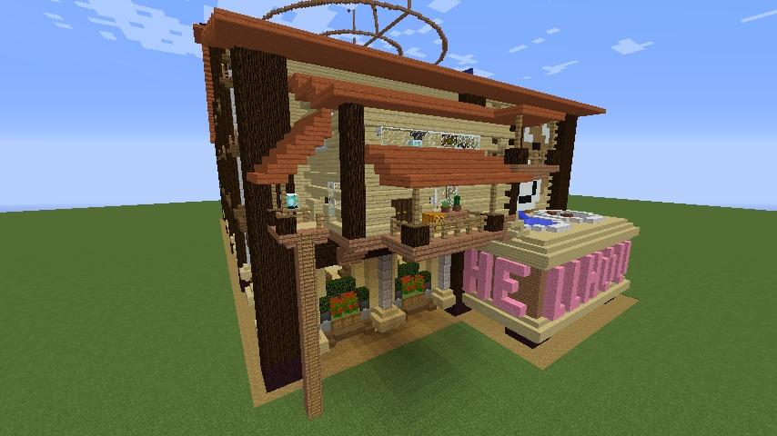 Minecrafterししゃもがマインクラフトで究極の犬小屋を完成させる9