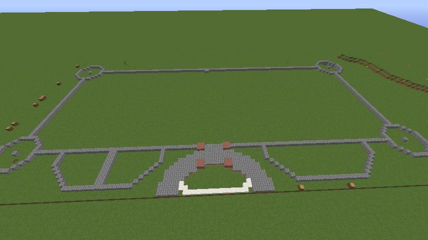 Minecrafterししゃもがマインクラフトで東京駅をモデルにした駅舎を建てる1