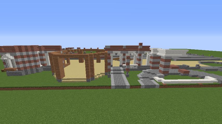 Minecrafterししゃもがマインクラフトで東京駅をモデルにした駅舎を建てる3