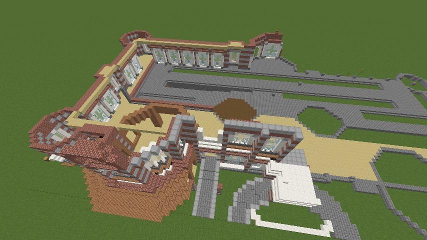 Minecrafterししゃもがマインクラフトで東京駅をモデルにした駅舎を建てる4