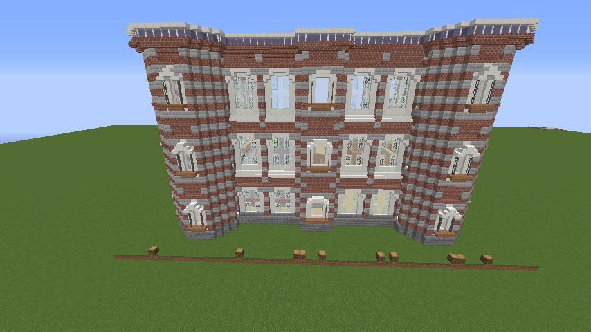 Minecrafterししゃもがマインクラフトで東京駅をモデルにした駅舎を建てる6