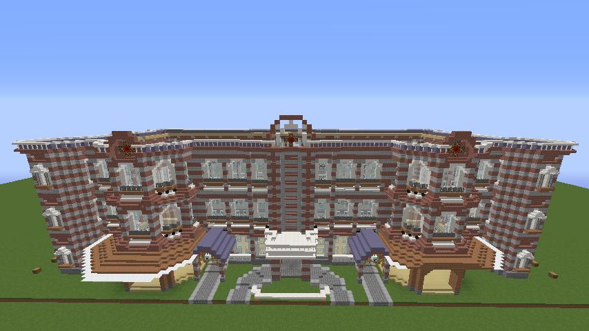 Minecrafterししゃもがマインクラフトで東京駅をモデルにした駅舎を建てる5