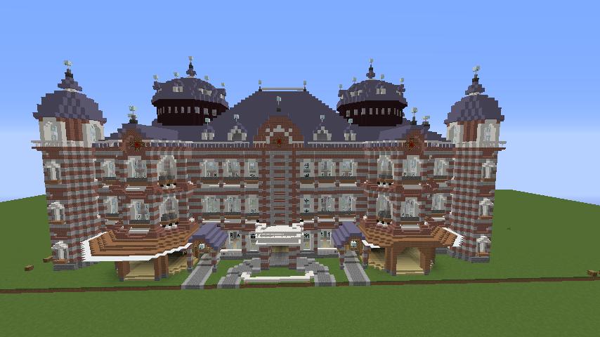 Minecrafterししゃもがマインクラフトで東京駅をモデルにした駅舎を建てる7