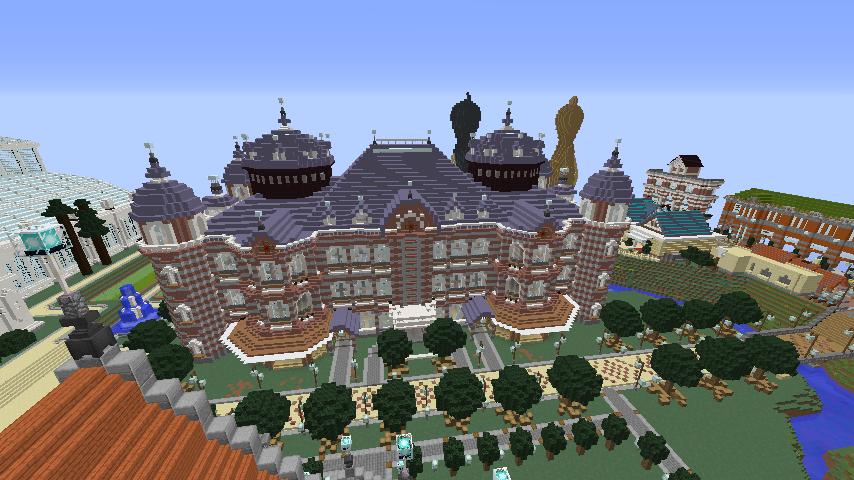 Minecrafterししゃもがマインクラフトで東京駅をモデルにした駅舎を建てる8