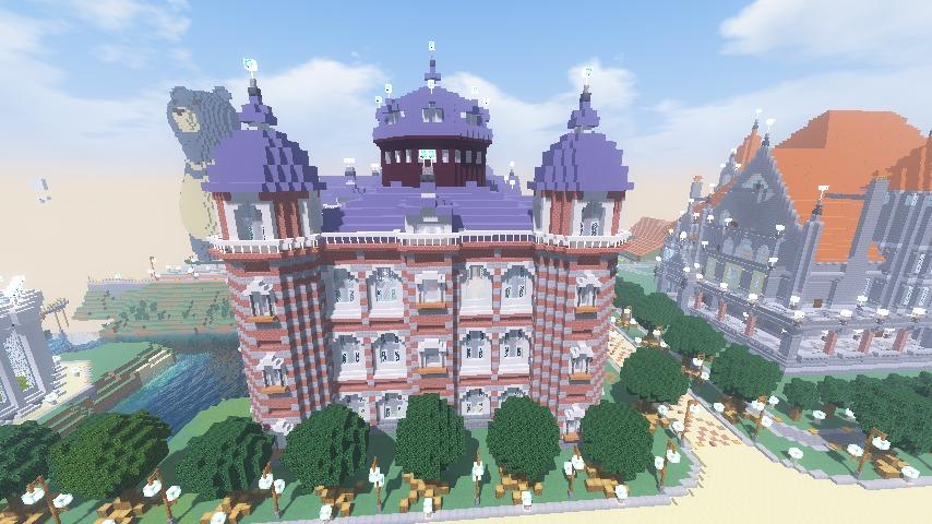 Minecrafterししゃもがマインクラフトで東京駅をモデルにした駅舎を建てる10