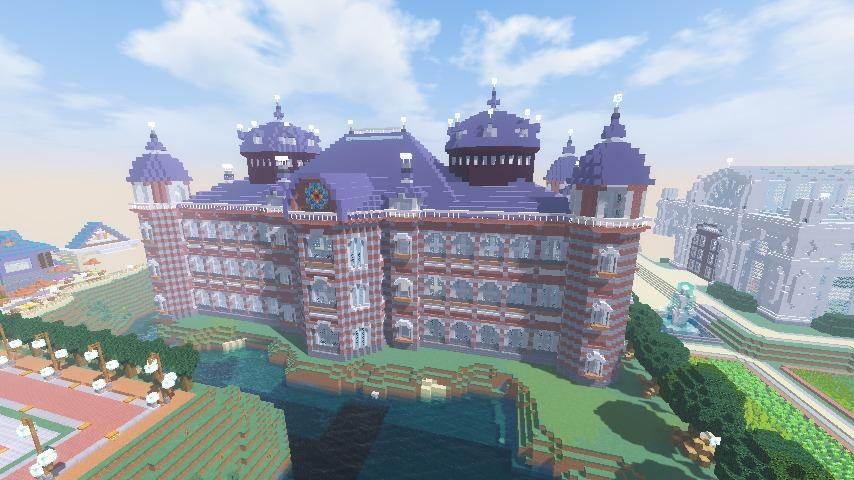 Minecrafterししゃもがマインクラフトで東京駅をモデルにした駅舎を建てる11