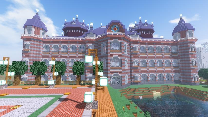 Minecrafterししゃもがマインクラフトで東京駅をモデルにした駅舎を建てる12