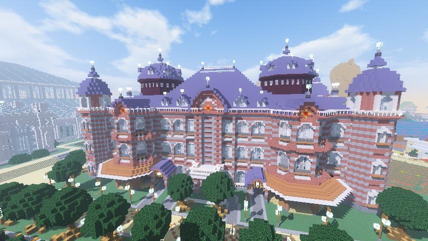 Minecrafterししゃもがマインクラフトで作った中央駅の内装を紹介する14
