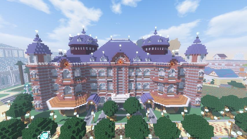 Minecrafterししゃもがマインクラフトで東京駅をモデルにした駅舎を建てる9