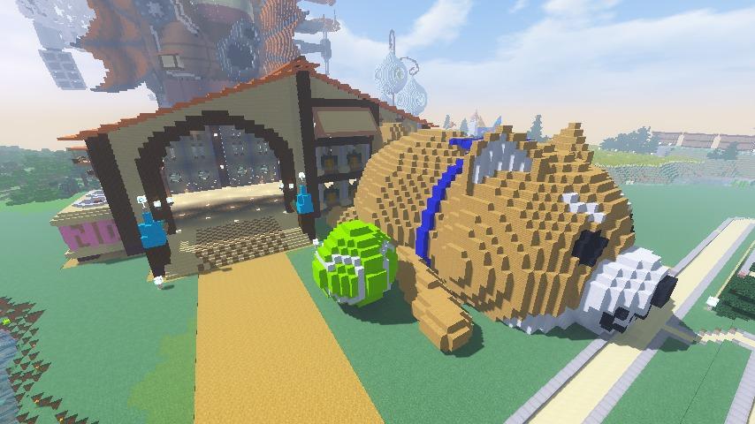Minecrafterししゃもがマインクラフトで究極の犬小屋を完成させる16