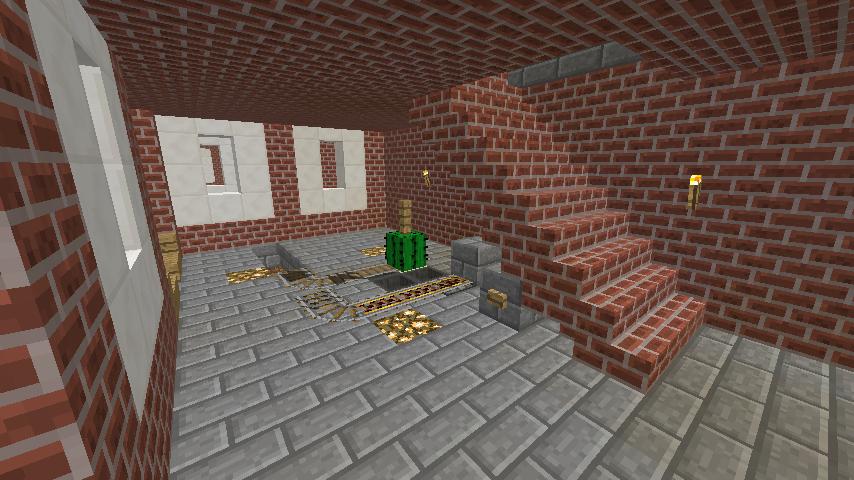 Minecrafterししゃもがマインクラフトで駅同士をつなぐ線路ユニットをつくる12