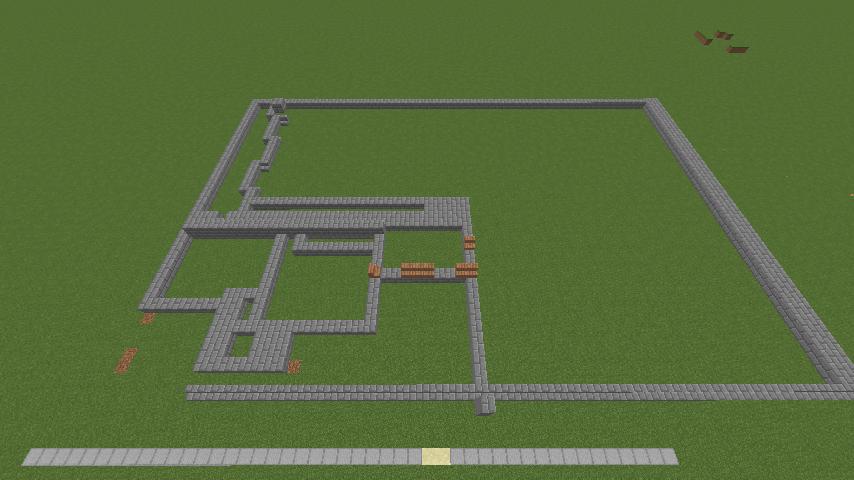 Minecrafterししゃもがマインクラフトで門司港駅をモデルにした駅舎をつくる2