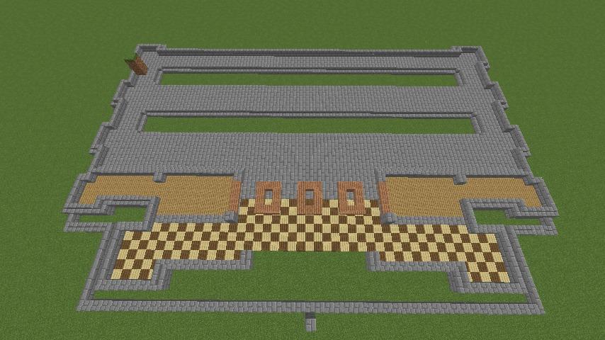 Minecrafterししゃもがマインクラフトで門司港駅をモデルにした駅舎をつくる3