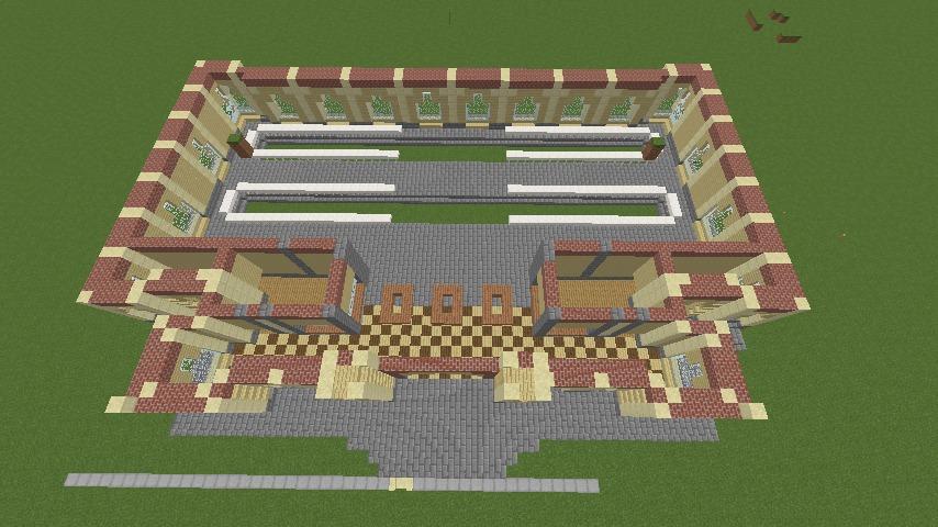 Minecrafterししゃもがマインクラフトで門司港駅をモデルにした駅舎をつくる4