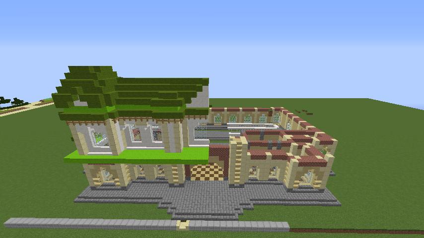 Minecrafterししゃもがマインクラフトで門司港駅をモデルにした駅舎をつくる5