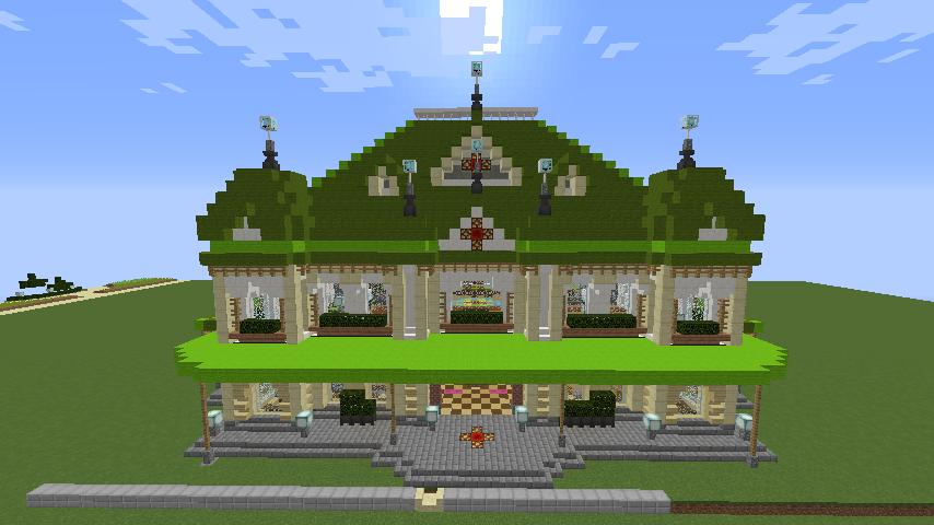 Minecrafterししゃもがマインクラフトで門司港駅をモデルにした駅舎をつくる6