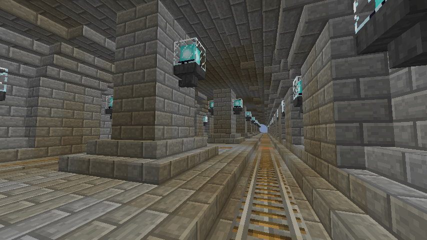 Minecrafterししゃもがマインクラフトで駅同士をつなぐ線路ユニットをつくる10