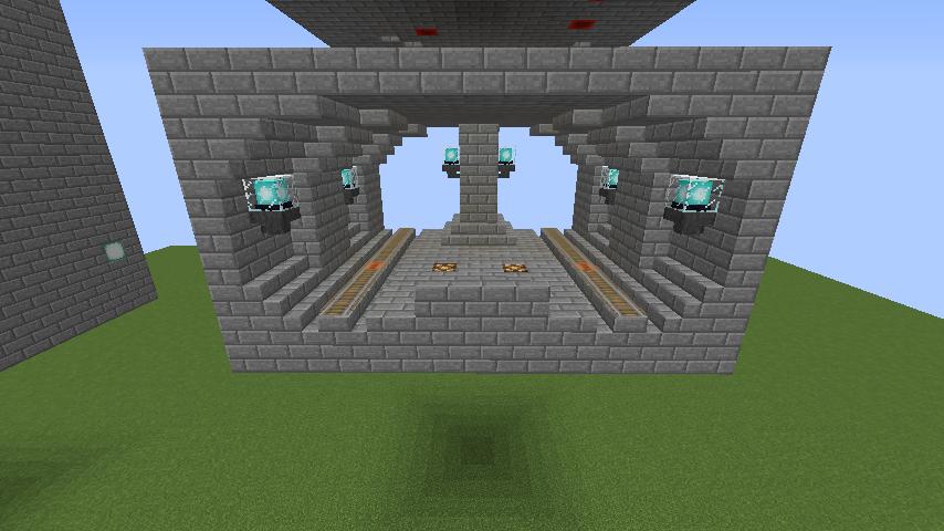 Minecrafterししゃもがマインクラフトで駅同士をつなぐ線路ユニットをつくる6