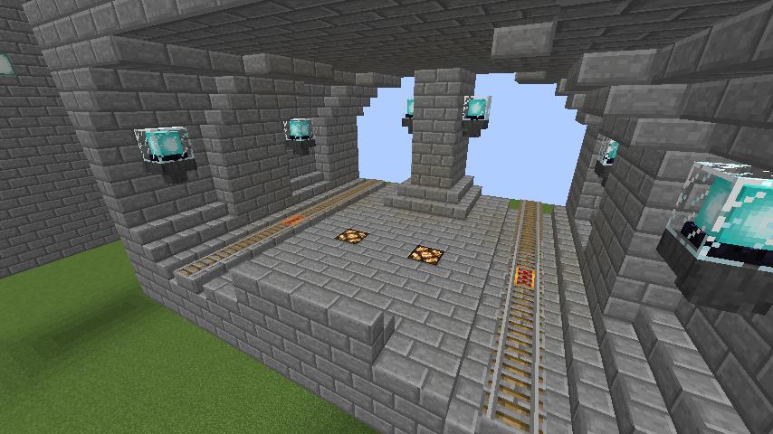 Minecrafterししゃもがマインクラフトで駅同士をつなぐ線路ユニットをつくる7