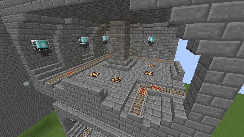 Minecrafterししゃもがマインクラフトで駅同士をつなぐ線路ユニットをつくる9