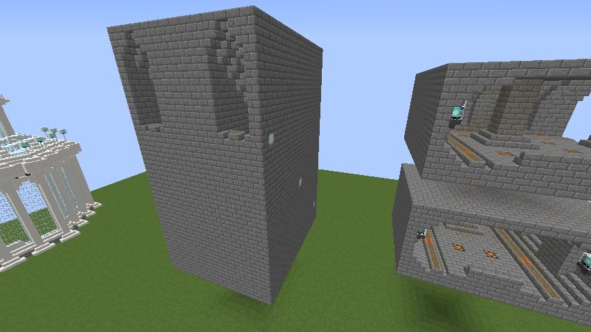 Minecrafterししゃもがマインクラフトで駅同士をつなぐ線路ユニットをつくる5