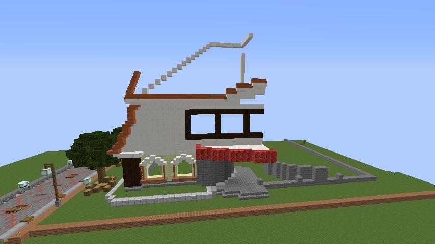Minecrafterししゃもがマインクラフトで環状地下鉄ぷこの手線の3駅目を作る3