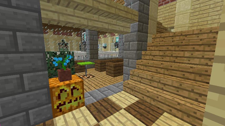 Minecrafterししゃもがマインクラフトで門司港駅をモデルにした駅舎をつくる9