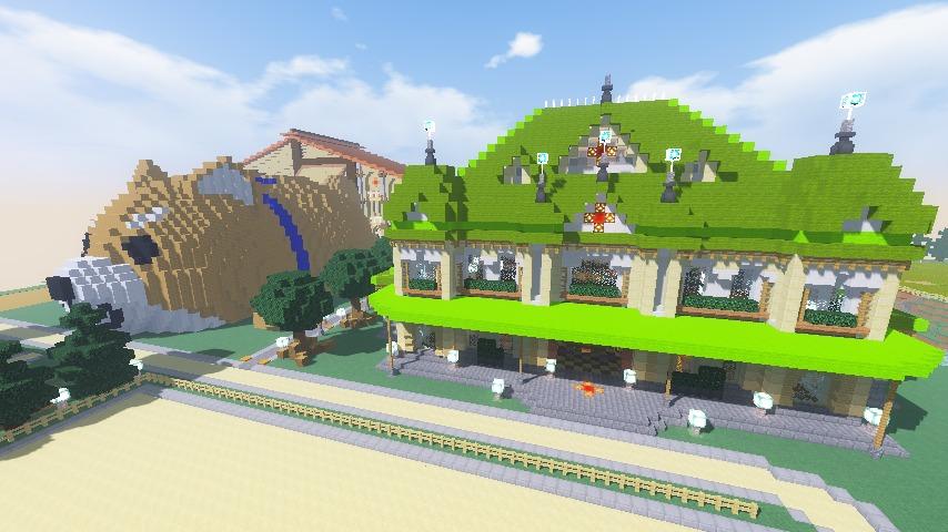 Minecrafterししゃもがマインクラフトで門司港駅をモデルにした駅舎をつくる15