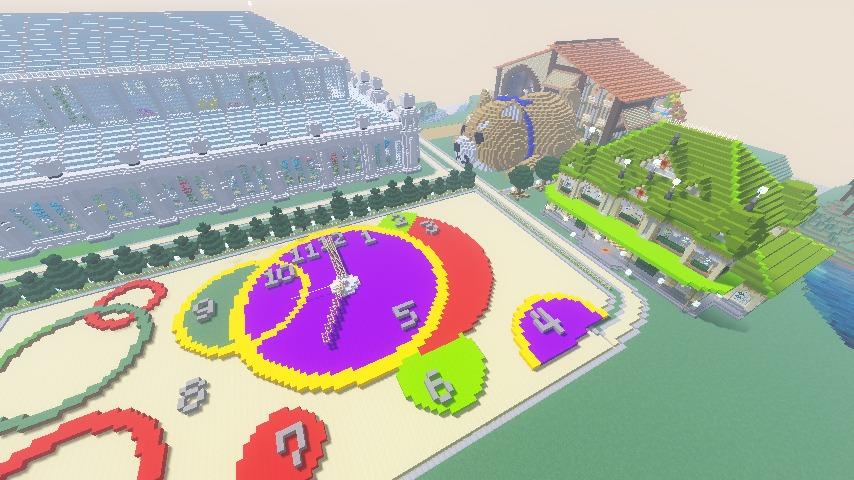 Minecrafterししゃもがマインクラフトで門司港駅をモデルにした駅舎をつくる16
