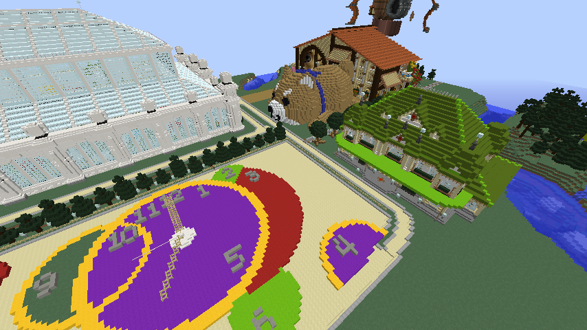 Minecrafterししゃもがマインクラフトで駅同士をつなぐ線路ユニットをつくる3