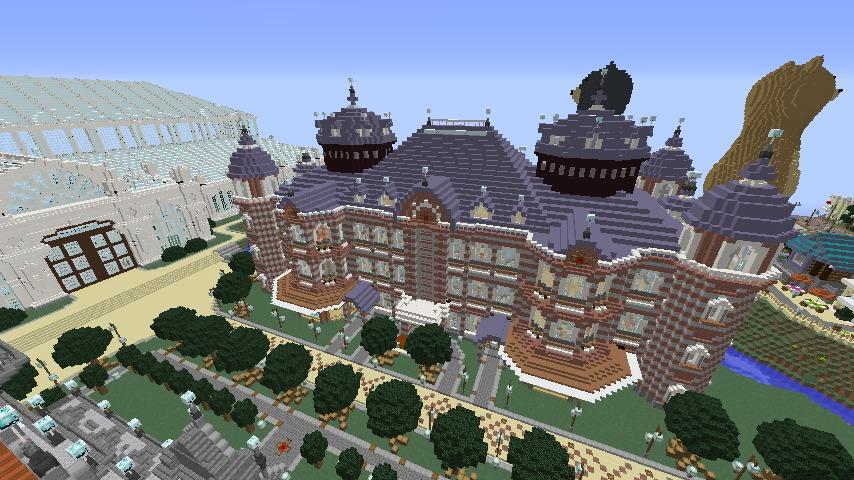 Minecrafterししゃもがマインクラフトで作った中央駅の内装を紹介する1