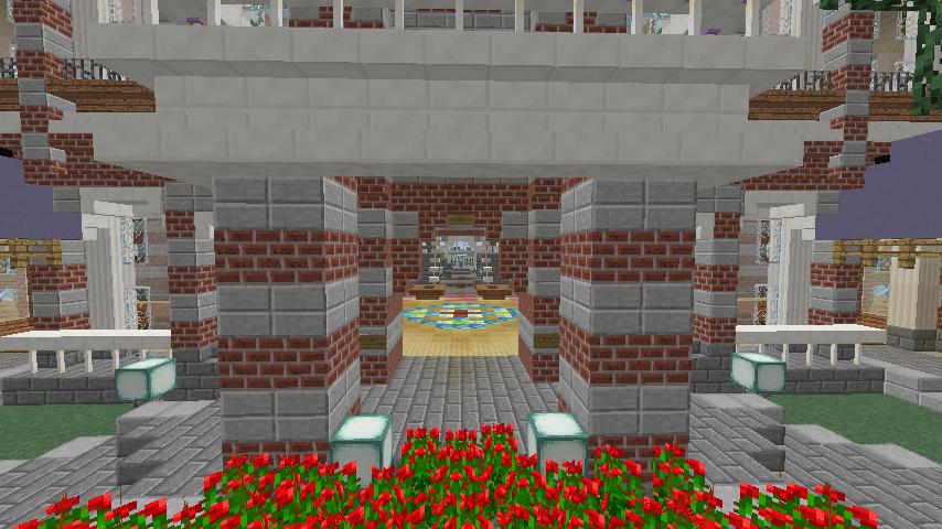 Minecrafterししゃもがマインクラフトで作った中央駅の内装を紹介する3
