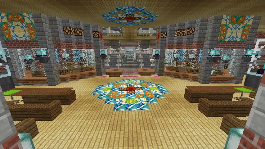 Minecrafterししゃもがマインクラフトで作った中央駅の内装を紹介する4