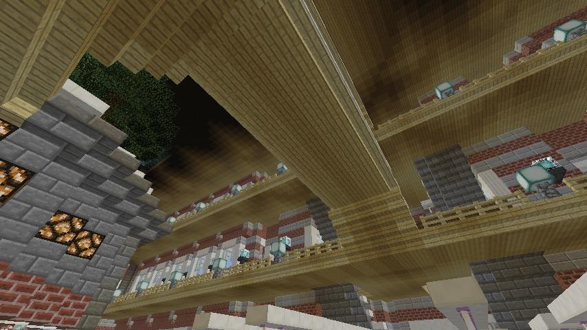 Minecrafterししゃもがマインクラフトで作った中央駅の内装を紹介する8