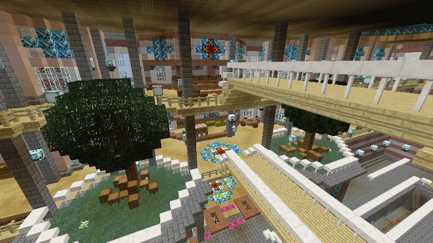 Minecrafterししゃもがマインクラフトで作った中央駅の内装を紹介する10
