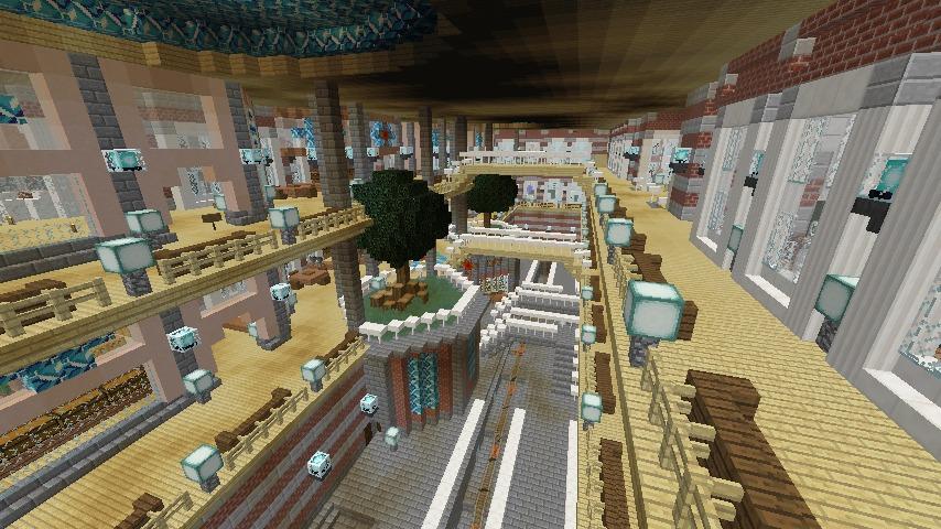 Minecrafterししゃもがマインクラフトで作った中央駅の内装を紹介する9