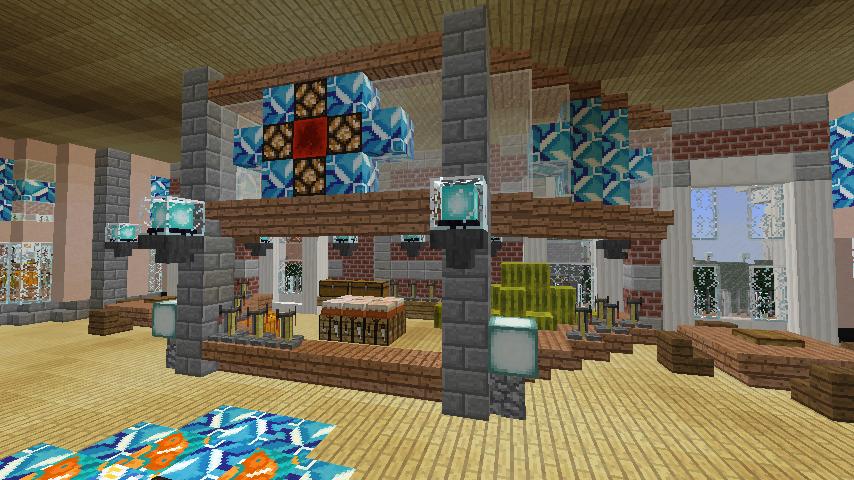 Minecrafterししゃもがマインクラフトで作った中央駅の内装を紹介する12